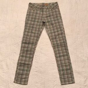 Pilcro plaid Stet fit jeans by Anthro NWOT